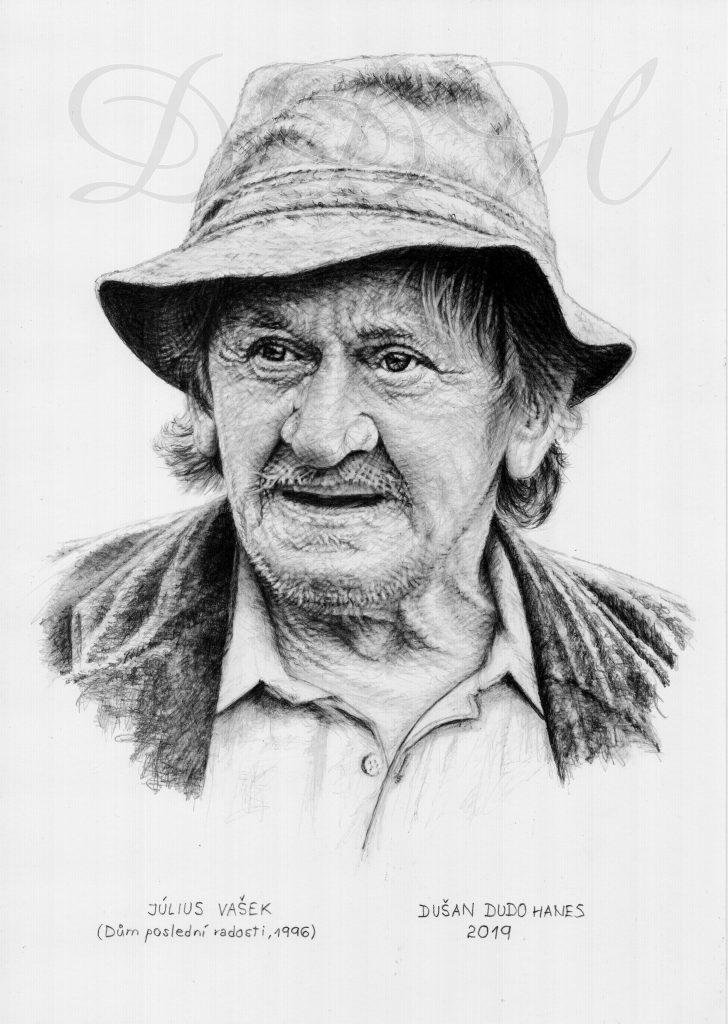 045 - Július Vašek, portrét Dušan Dudo Hanes