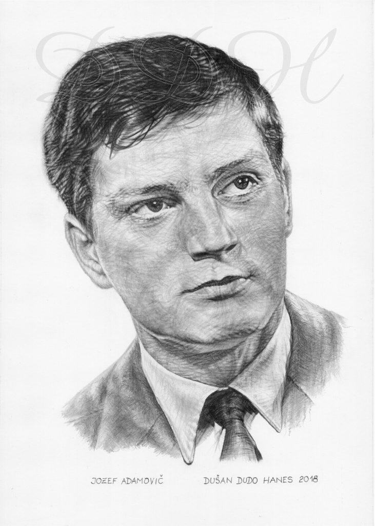 98 - Jozef Adamovič, portrét Dušan Dudo Hanes