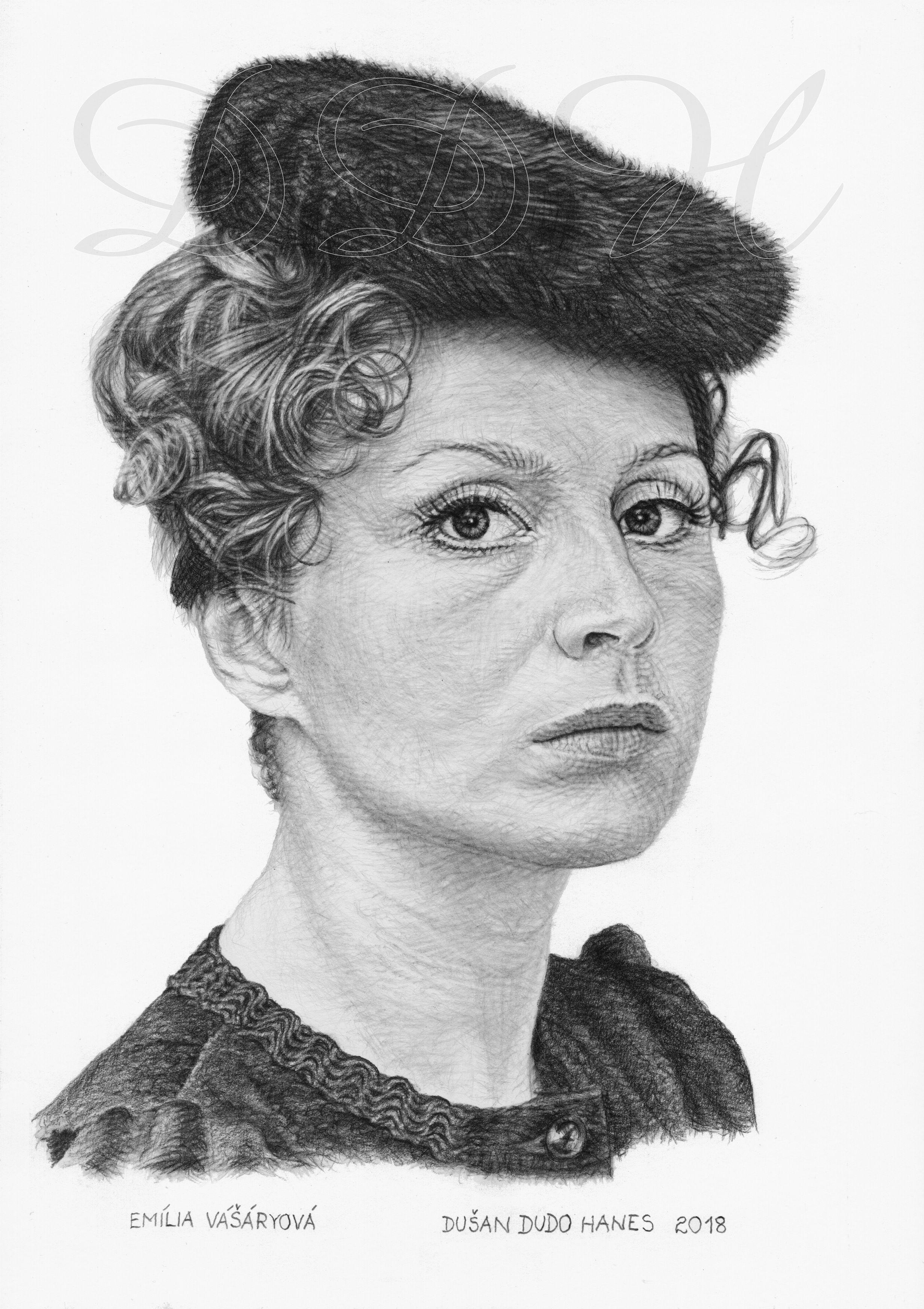 99 - Emília Vášáryová, portrét Dušan Dudo Hanes